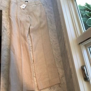 J Crew Factory Cuffed Linen Pant in Natural size 6